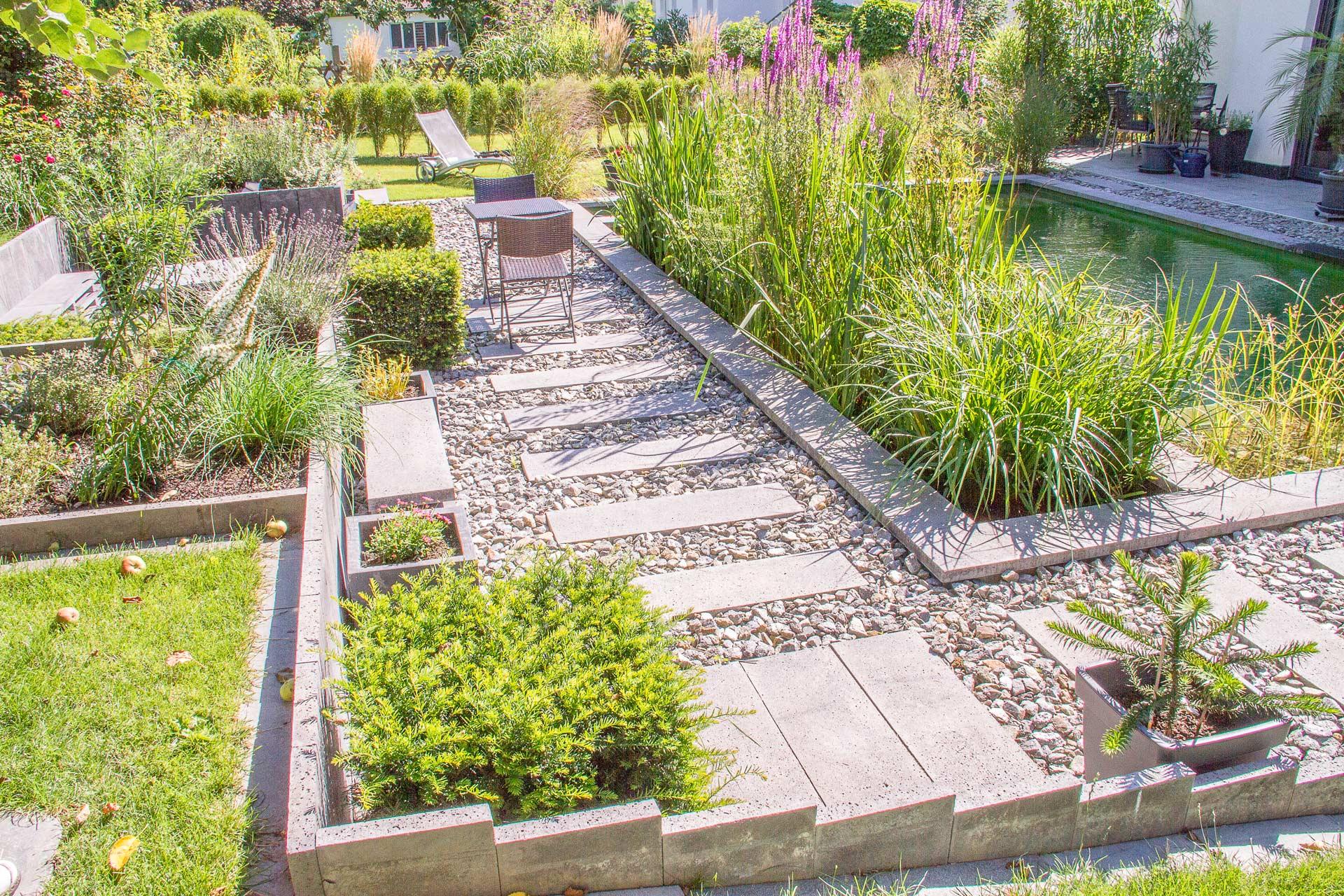 Gartengestaltung mit trittplatten eichler gartenideen for Gartengestaltung 2018